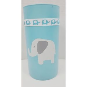 Baby Blue Baby Elephant Glass Vase Decor Baby Room